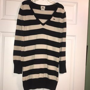 Lacoste Oversized Navy & Ivory Sweater